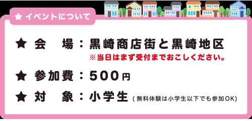 黒崎こども商店街2019 開催概要